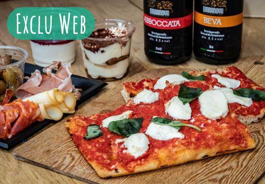 Repas pizza - 2 pers - A commander deux heures en avance