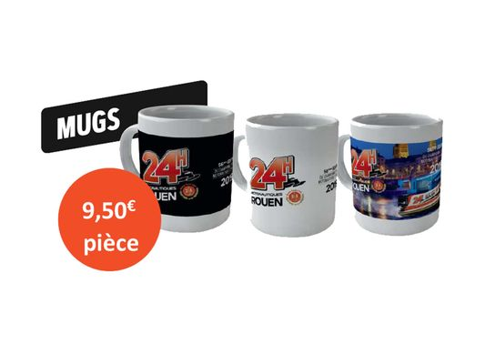 Lot de 3 mugs