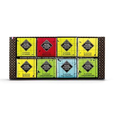 Coffret chocolats de plantation M Cluizel 80g (16 carrés)