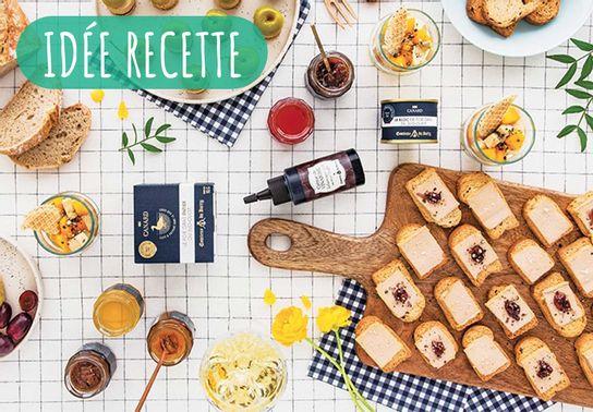 Burger de bloc de foie gras au pain d'épices et mini-pommes au floc de Gascogne