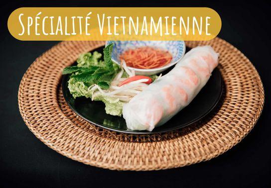 Rouleau de Primtemps Crevettes (Spécialité Vietnamienne)