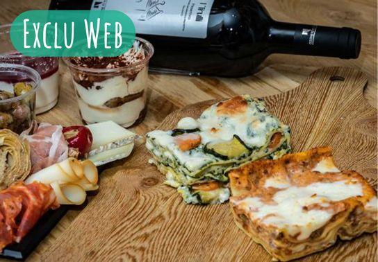 Repas italien - 2 pers - A commander deux heures en avance