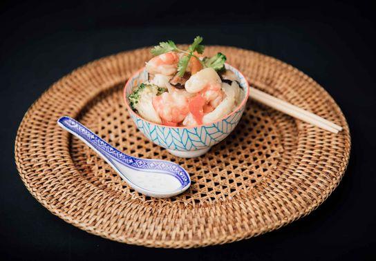 Crevettes et Calamars aux Légumes