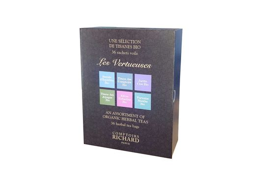 Coffret infusions sachets voile Vertueuses bio x36