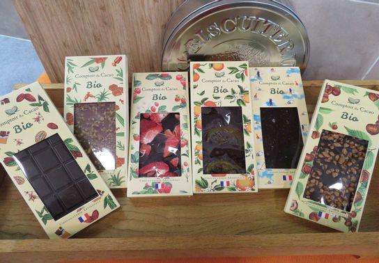 Tablettes Bio 90g Comptoir Cacao