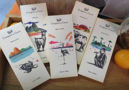 Tablettes Origines 80g Comptoir Cacao
