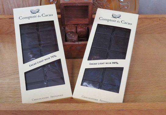 Tablettes Light 80g Comptoir Cacao