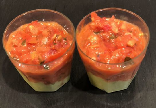 Verrine Tartare Tomate et Guacamole
