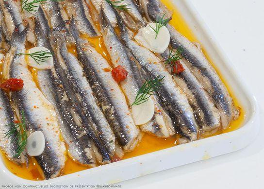 Filets d'anchois marinés