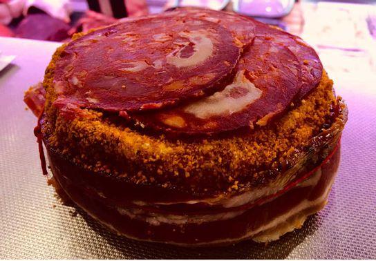 Camembert pané chorizo & lard de Savoie