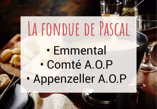 Fondue de Pascal (emmental, comté A.O.P., appenzeller A.O.P.)  -  250g
