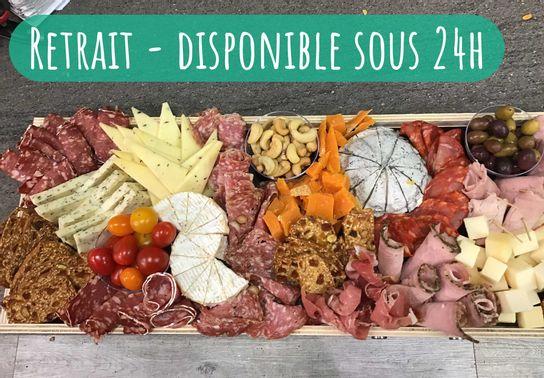 Assortiment dînatoire rectangulaire - Charcuteries & Fromages