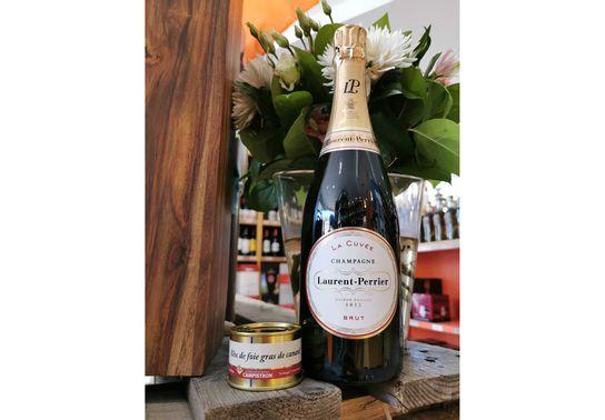 Champagne Laurent Perrier La Cuvée + Bloc de Foie gras 65g