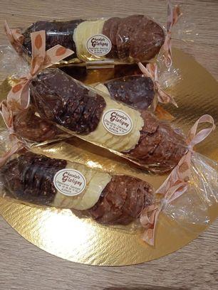 Tuile amande chocolat
