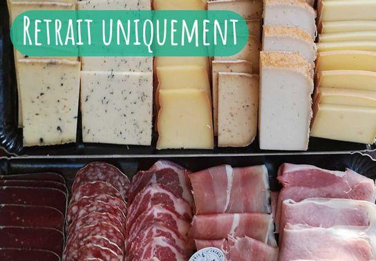 Plateau raclette - Charcuterie et fromage - 4 personnes