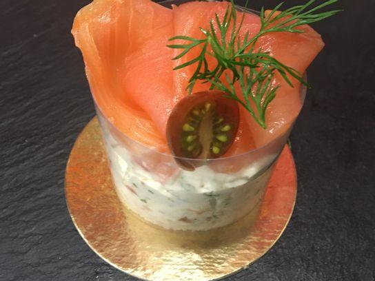 Cheesecake au Saumon fumé et Saumon mariné