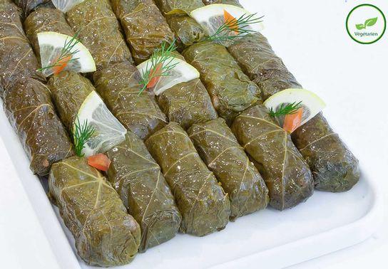 Dolmadès, feuilles de vignes farcies au riz
