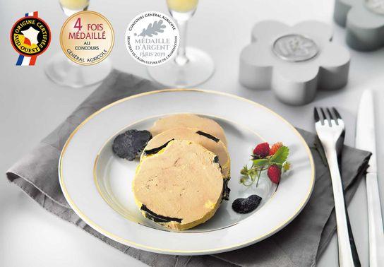 Foie Gras de Canard Entier du Périgord Truffé (5% de Truffes Noires) - Boîte rectangulaire 200g