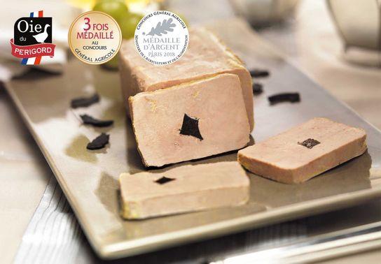 Foie Gras d'Oie Entier du Périgord Truffé (5% de Truffes Noires) - 200g