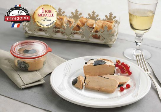 Foie Gras de Canard Entier du Périgord Truffé Mi-Cuit (5% de Truffes Noires) - Trapèze - 200g