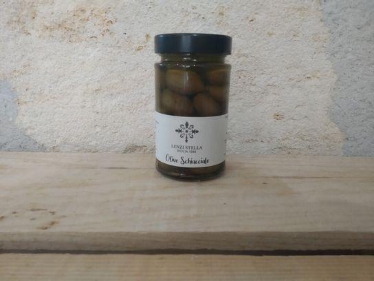 Olives vertes à l'huile d'olive Lenzi Stella