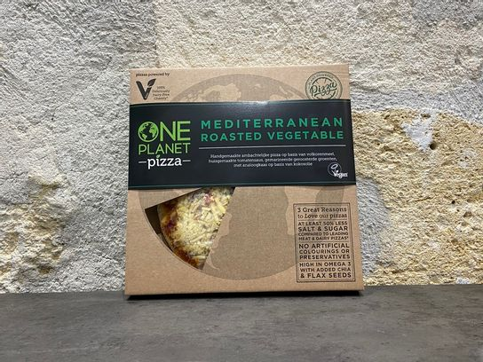 Pizza légumes rôtis à la méditerranéenne One Planet Pizza