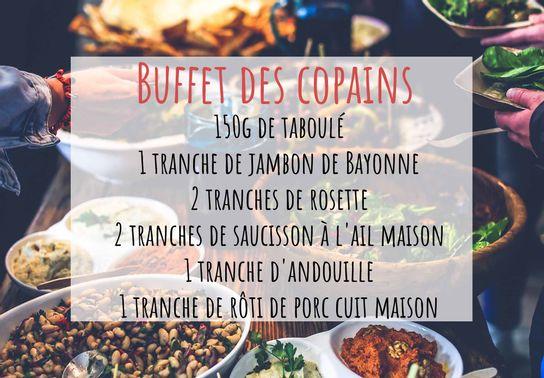 Buffet des copains