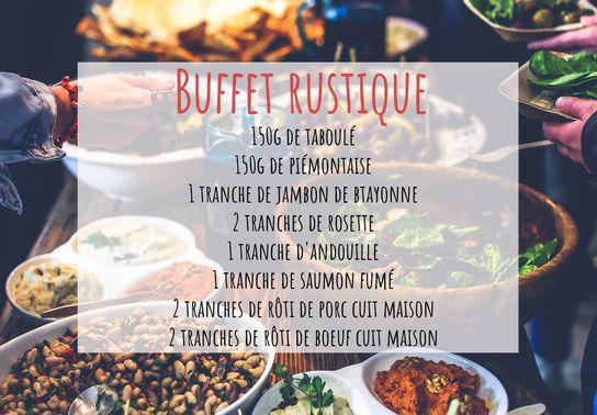 Buffet rustique