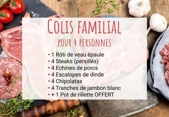 Promo : Colis familial pour 4 pers + Pot rillettes offert