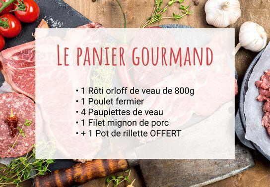 Promo : Le Panier gourmand + 1 pot de rillettes offert