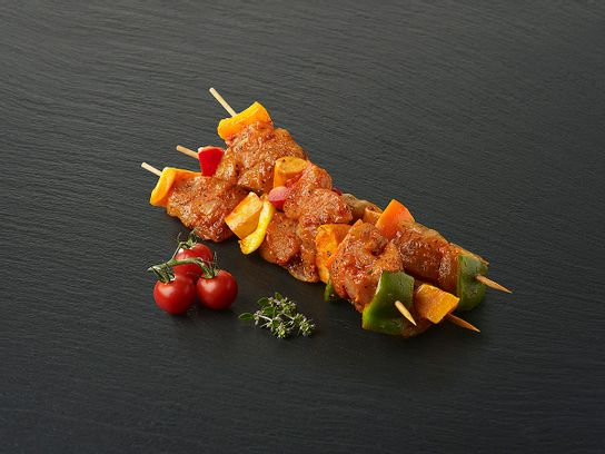 Brochette de dinde marinée dijonnaise