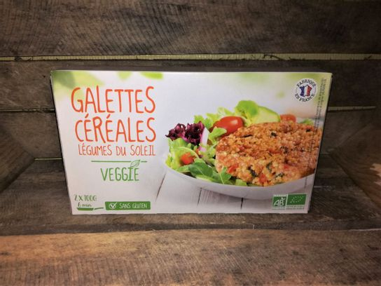Galettes céréales Légumes du soleil