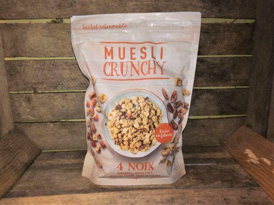 Muesli Crunchy aux 4 noix