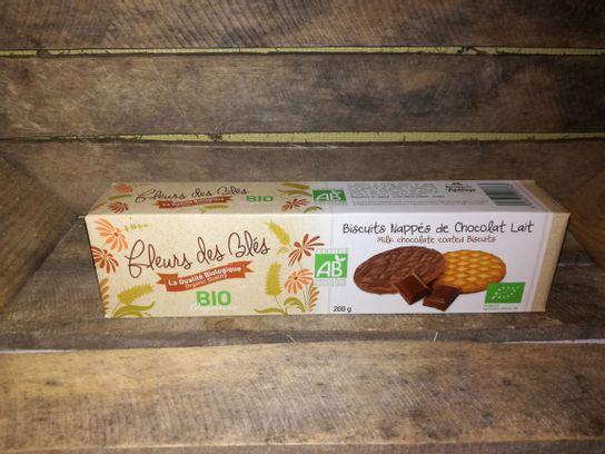 Biscuits nappés BIO chocolat au lait