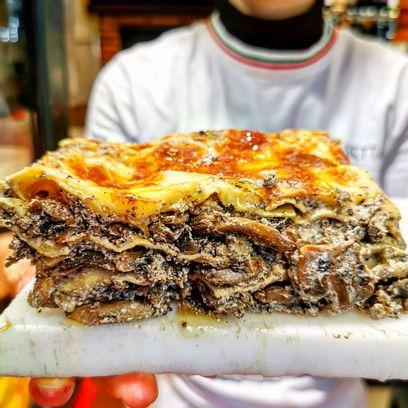 Lasagne truffe champignons mozza  (frais, maison) 1 personne