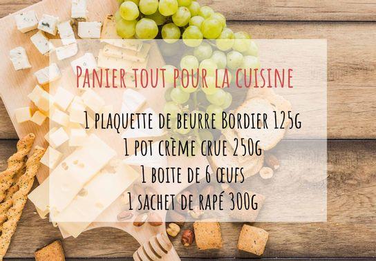 """Panier """"tout pour la cuisine"""""""