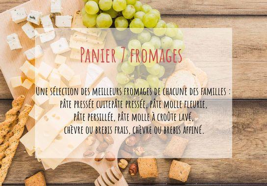 Panier 7 fromages, idéal pour les gourmands