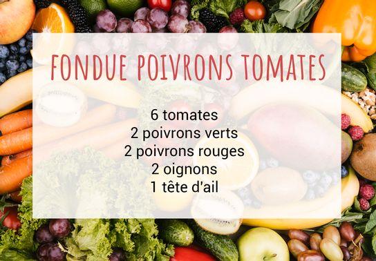 Fondue de poivrons tomates