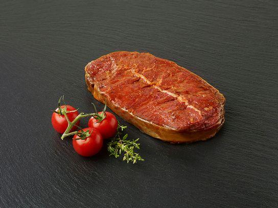 Paleron de bœuf tranché mariné barbecue