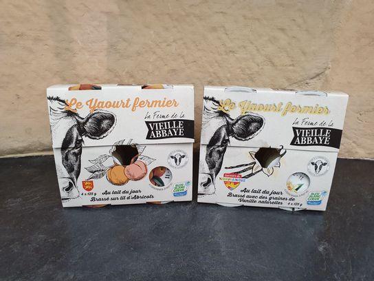 Yaourt aux fruits,nature ou vanille - Lait de vache - Abbaye