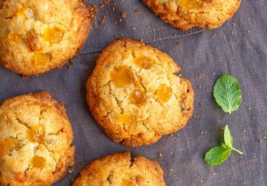 Cookie gingembre confit menthe fraîche