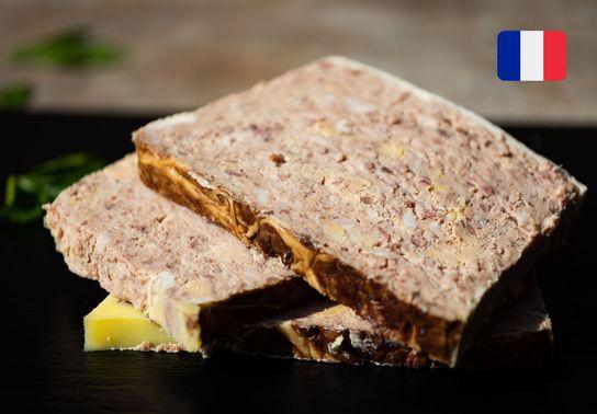 Terrine de canard foie gras aux girolles