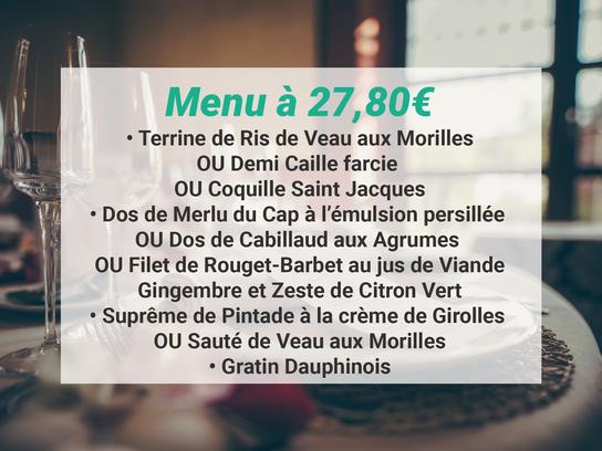 Menu à 23€