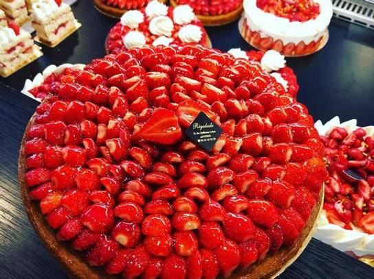 Tarte aux fraises crème pâtissière 8 pers
