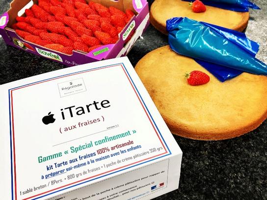 Kit I tarte aux fraises 8 pers