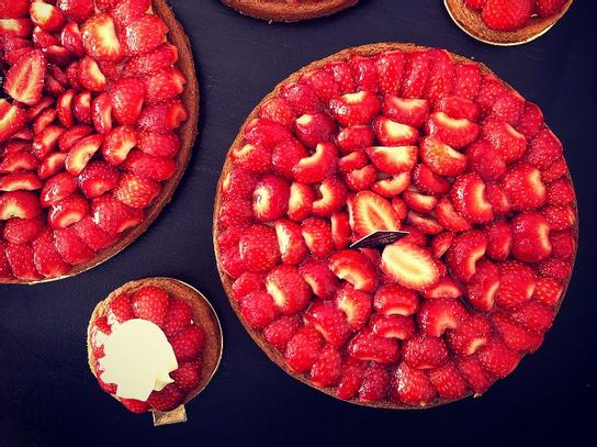 Tartelette aux fraises crème pâtissière