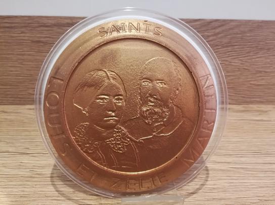 Médaille chocolat Louis et Zelie MARTIN
